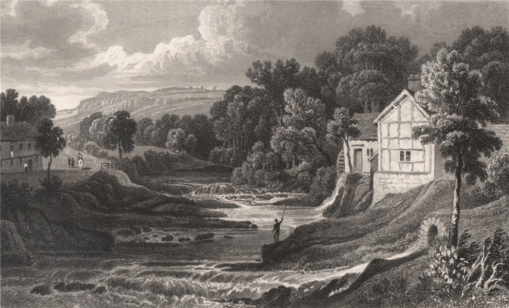 Associate Product View on the Rhiw, Montgomeryshire, Wales, by Henry Gastineau 1835 old print