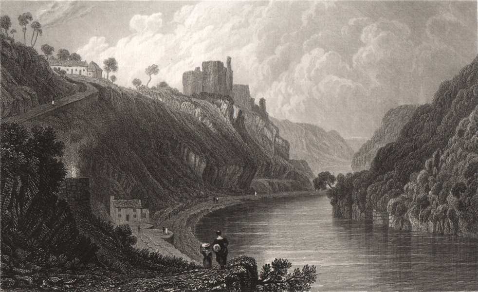 Associate Product Cilgerran Castle, Pembrokeshire, Wales, by Henry Gastineau 1835 old print