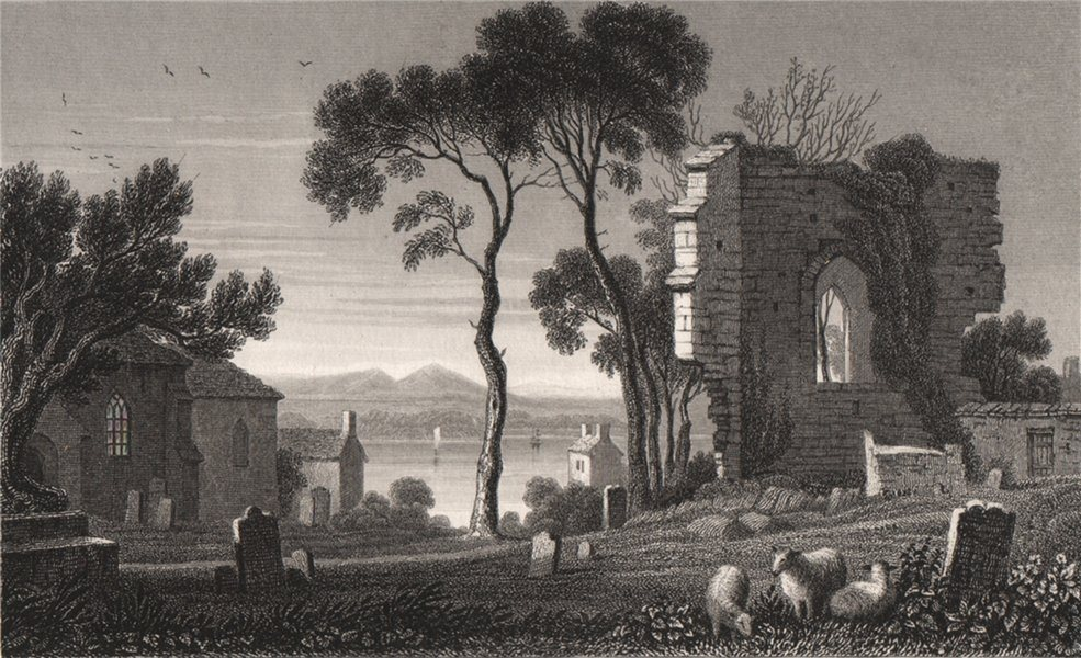 Associate Product Remains of St. Dogmael's Abbey, Pembrokeshire, Wales, by Henry Gastineau 1835