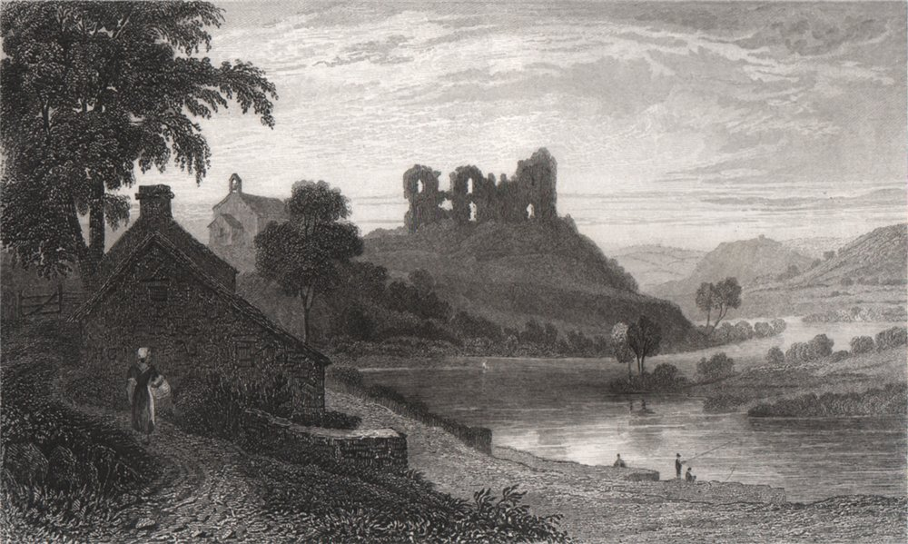 Associate Product Newcastle Emlyn, Cardiganshire, Wales, by Henry Gastineau 1835 old print