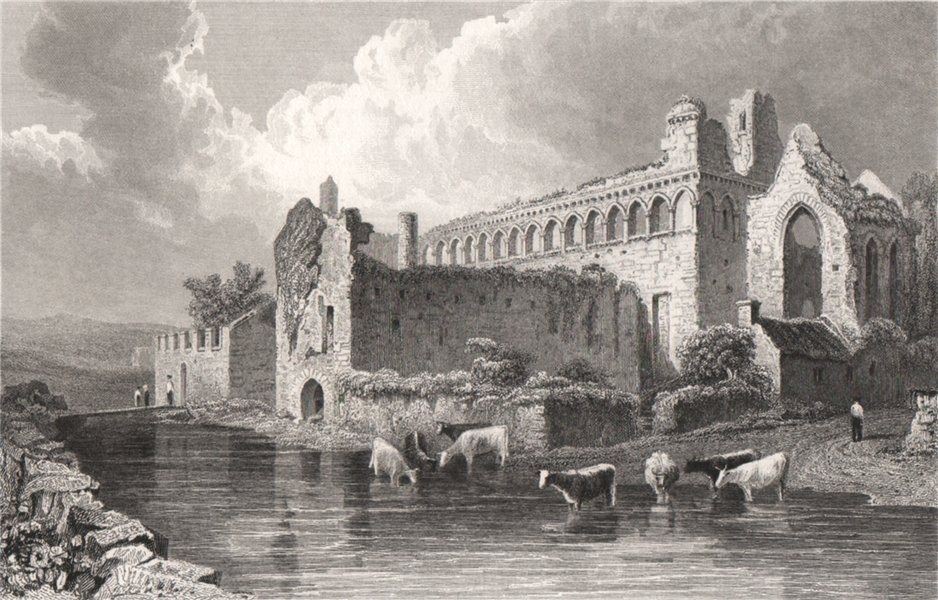 Associate Product Bishop's Palace, St. David's, Pembrokeshire, Wales, by Henry Gastineau 1835