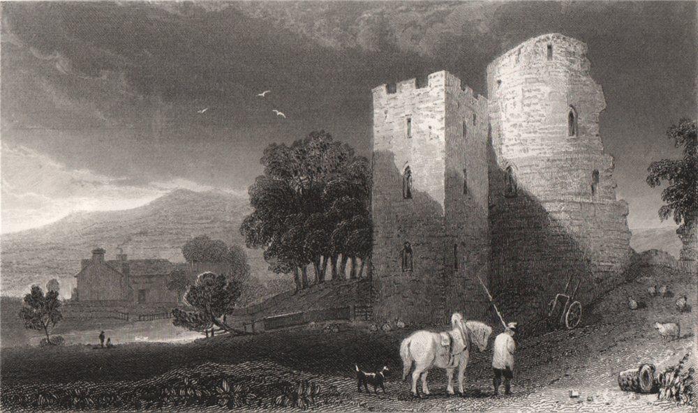 Associate Product Crickhowell Castle, Brecknockshire, Wales, by Henry Gastineau 1835 old print