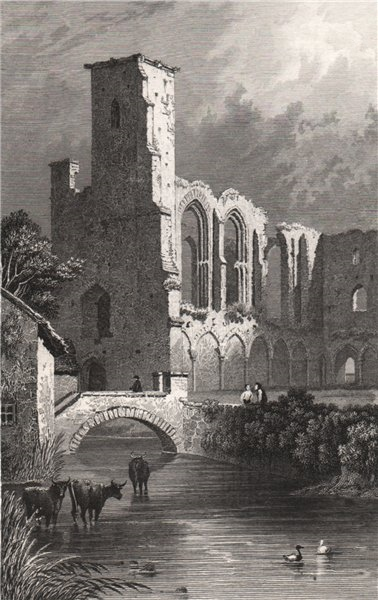Associate Product St. Mary's College, St. David's, Pembrokeshire, Wales, by Henry Gastineau 1835