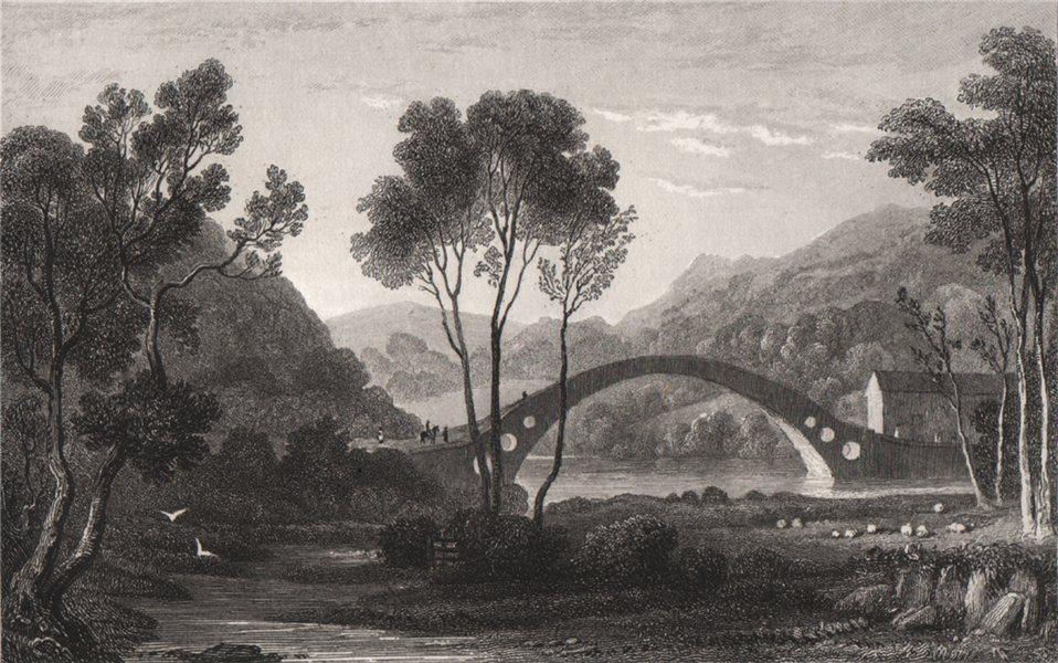 Pontypridd, Glamorganshire, Wales, by Henry Gastineau 1835 old antique print