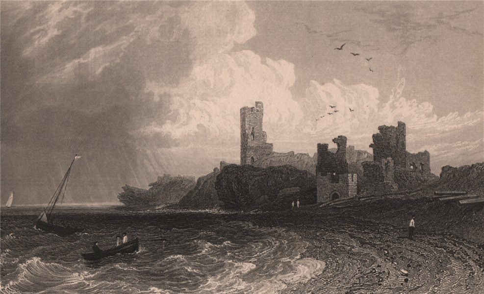 Associate Product Remains of Aberystwyth Castle, Cardiganshire, Wales, by Henry Gastineau 1835