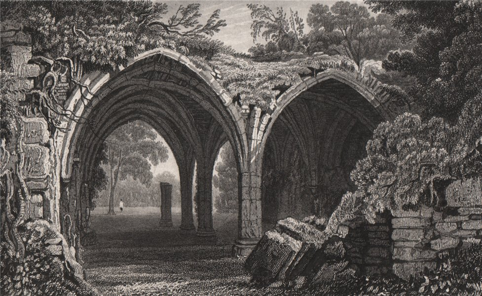 Associate Product Remains of the Cloisters of Margam Abbey, Glamorganshire by Henry Gastineau 1835