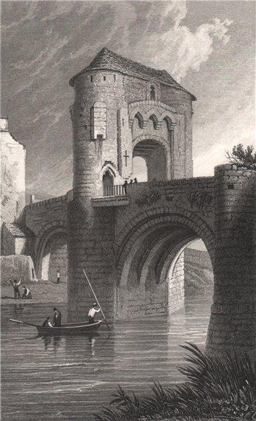 Associate Product Gateway & Bridge, Raglan, Monmouthshire, Wales, by Henry Gastineau 1835 print