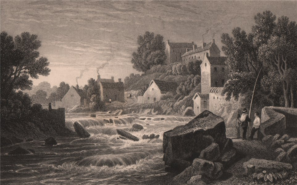 Associate Product View near Droichead Nua, Glamorganshire, Wales, by Henry Gastineau 1835 print