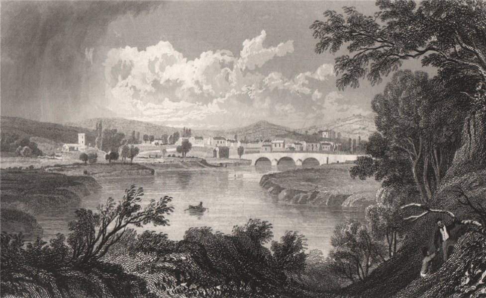 Associate Product Caerleon, Monmouthshire, Wales, by Henry Gastineau 1835 old antique print