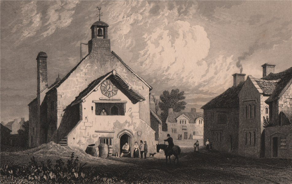 Town Hall, Llantwit Major, Glamorganshire, Wales, by Henry Gastineau 1835