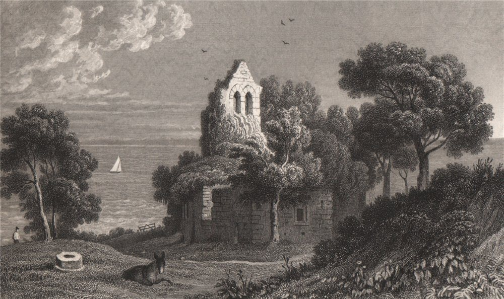 Associate Product Sudbrook Chapel on Caldicot Level, Monmouthshire, Wales, by Henry Gastineau 1835