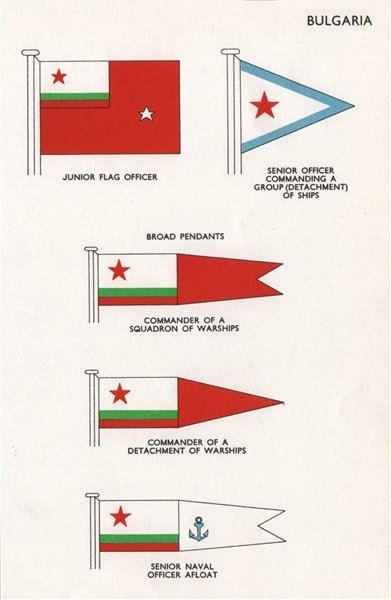 Associate Product BULGARIA FLAGS Junior Flag Officer Senior officer Broad Pendants Commander 1958