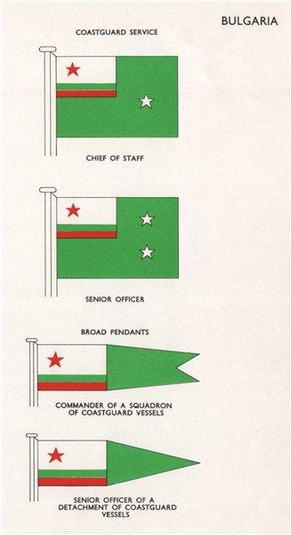 Associate Product BULGARIA COASTGUARD FLAGS. Chief of Staff. Senior Officer. Broad Pendants 1958