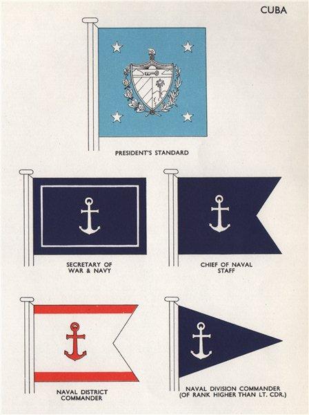 Associate Product CUBA FLAGS President Standard Secretary of War & Navy Chief of Naval Staff 1958
