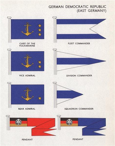 Associate Product GDR/EAST GERMANY FLAGS Volksmarine chief Fleet Commander Admiral Pendant 1958