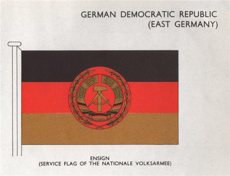 GERMAN DEMOCRATIC REPUBLIC (EAST GERMANY) FLAGS. Ensign  1958 old print