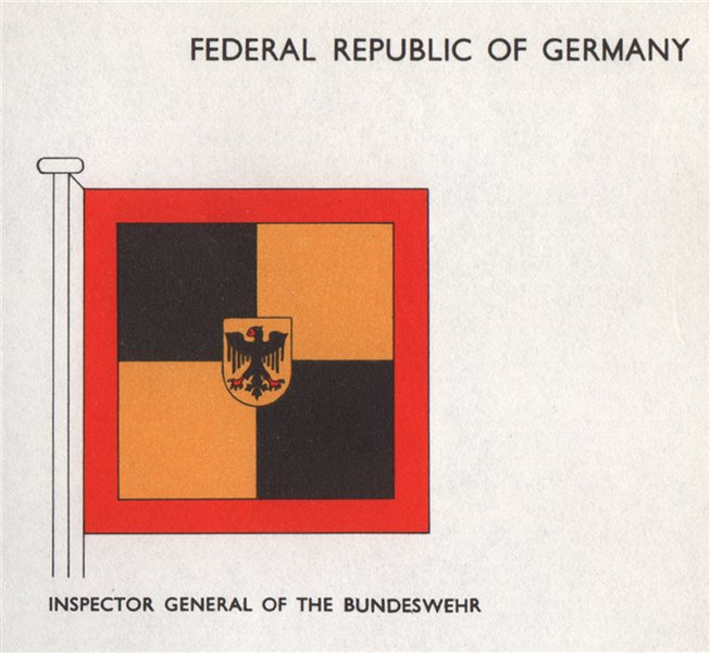 Associate Product FEDERAL REPUBLIC OF (WEST) GERMANY FLAGS. Bundeswehr Inspector General 1958