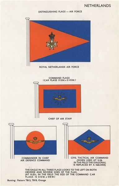 Associate Product ROYAL NETHERLANDS AIR FORCE FLAGS. Chief of Air Staff. Air Defence Command 1958