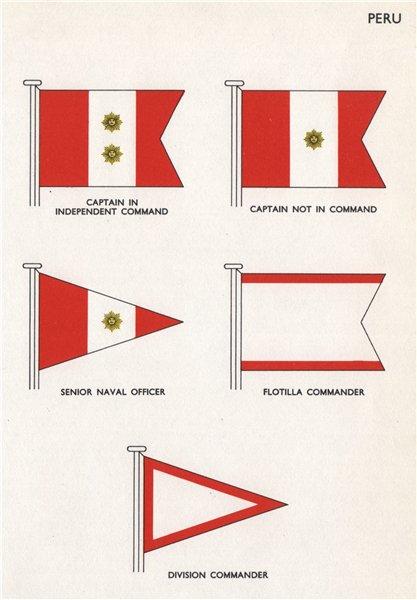 PERU FLAGS. Captain. Senior Naval Officer. Flotilla/Division Commander 1958
