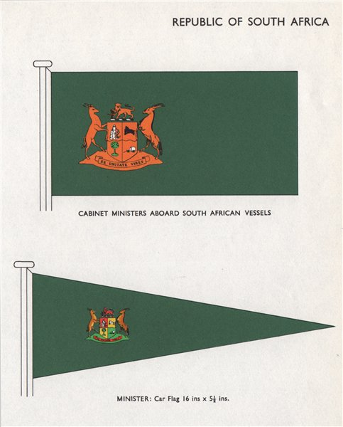 Associate Product SOUTH AFRICA FLAGS Cabinet Ministers Aboard South African Vessels. Car Flag 1958