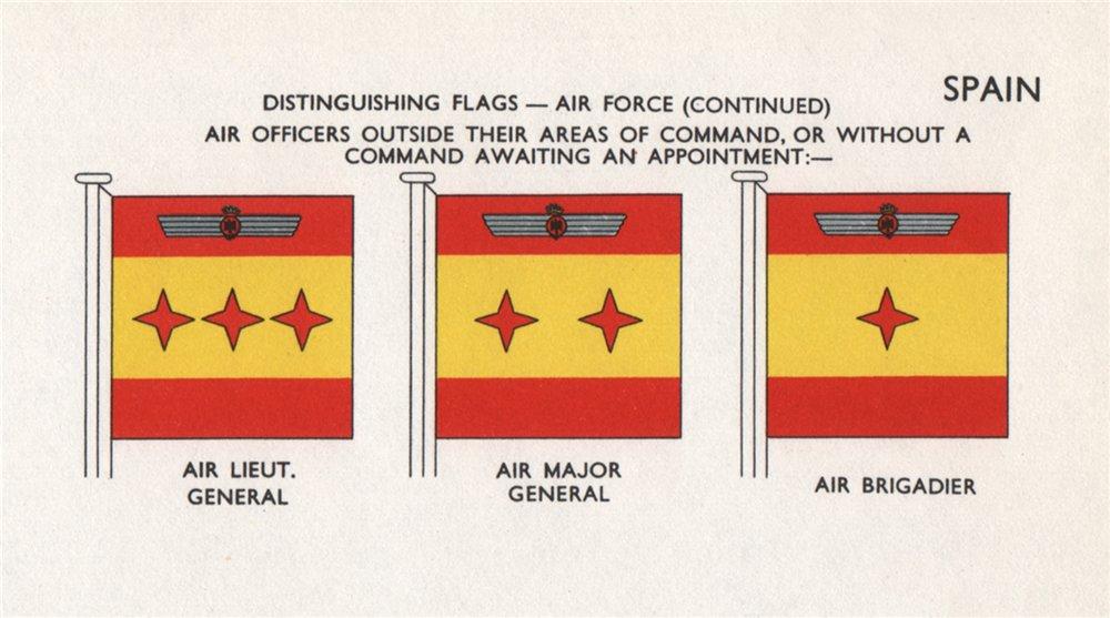 SPAIN AIR FORCE FLAGS. Air Lieutenant General/Major General. Air Brigadier 1958