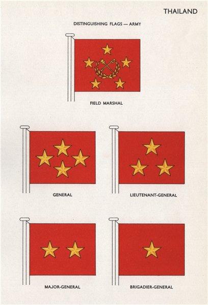 Associate Product THAILAND ARMY FLAGS. Field Marshal. Lieutenant-, Major- & Brigadier-General 1958