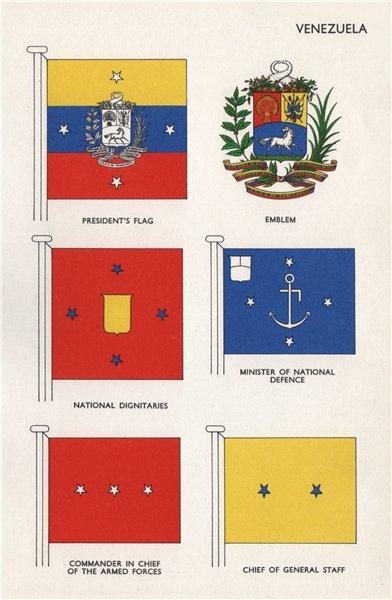 Associate Product VENEZUELA FLAGS. President Emblem Dignitaries Minister of National Defence 1958