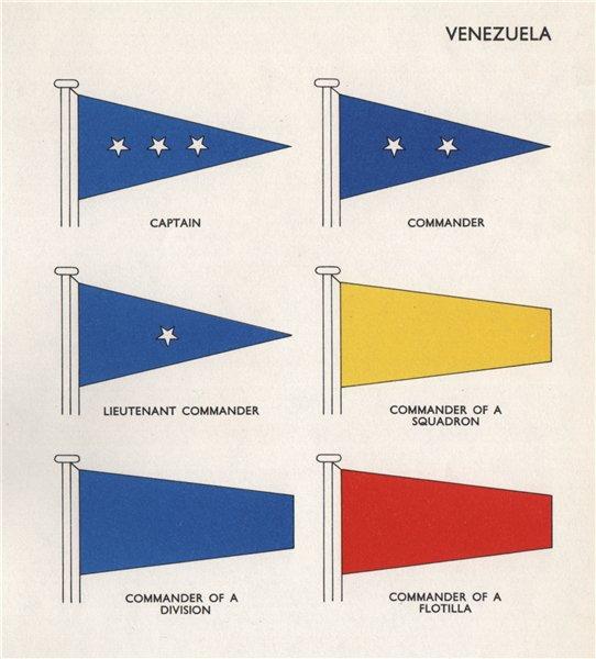 Associate Product VENEZUELA FLAGS. Captain. Lieutenant Commander Squadron Division Flotilla 1958