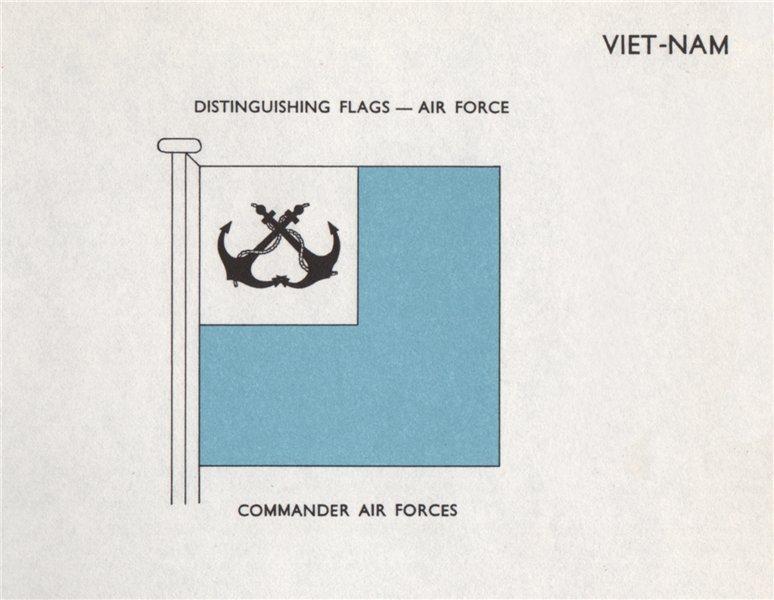 Associate Product VIETNAM AIR FORCE FLAGS. Commander Air Forces 1958 old vintage print picture