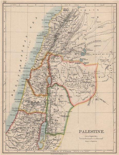 Associate Product PALESTINE. Galilee Samaria Judea Perea Phoenicia Decapolis. JOHNSTON 1895 map