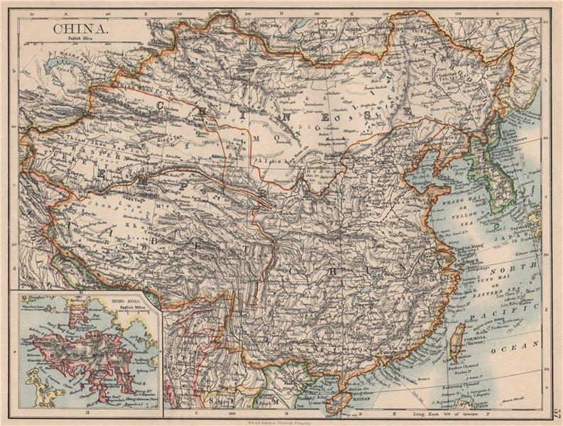 Associate Product CHINESE EMPIRE. China East Asia Tibet Mongolia East Turkestan Korea 1895 map