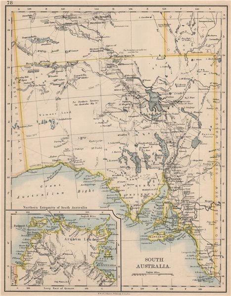 Associate Product SOUTH AUSTRALIA.Explorer route Sturt Giles Elder Forrest Eyre Tictkins 1895 map