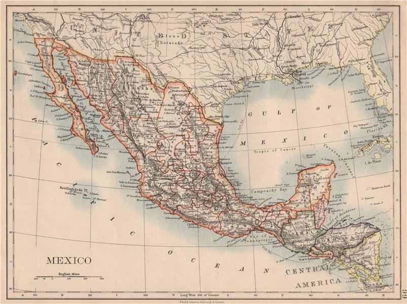Associate Product MEXICO. Greater Central America Republic-1895 Amapala treaty. JOHNSTON 1895