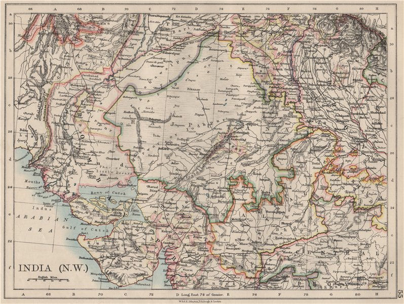 British India Nw Rajputana Rajasthan Sindh Gujarat Malwa