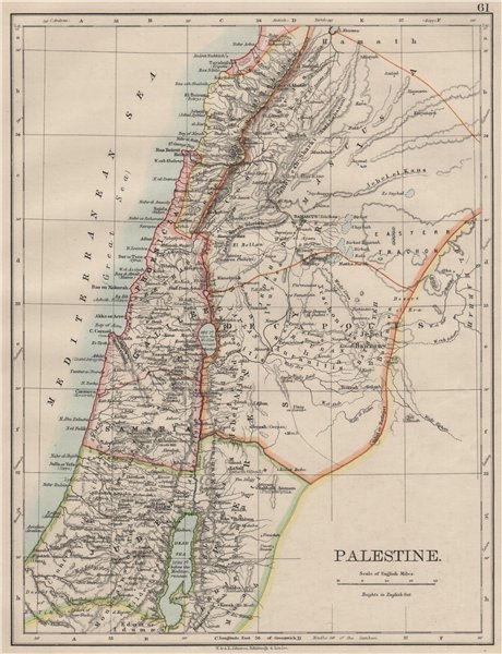 Associate Product PALESTINE. Galilee Samaria Judea Perea Phoenicia Decapolis. JOHNSTON 1900 map