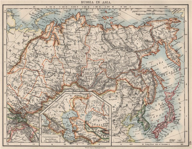 Associate Product RUSSIA IN ASIA. Shows Trans-Siberian railway under construction  1900 old map