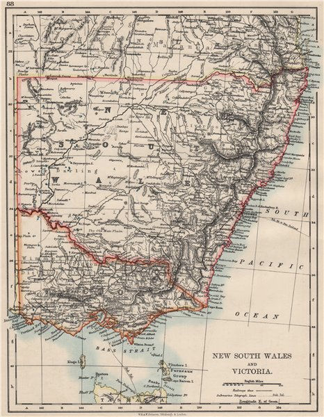 title of map new south wales and victoria