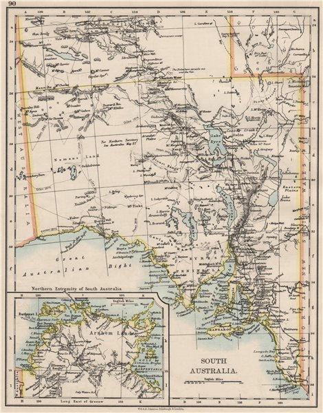 Australia Map 1900.Details About South Australia Explorer Route Sturt Giles Elder Forrest Eyre Tictkins 1900 Map