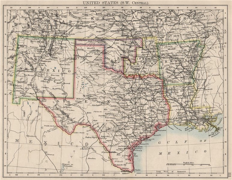 Associate Product USA SOUTH CENTRAL.Texas.Proposed state of Oklahoma inc Indian Territory 1900 map