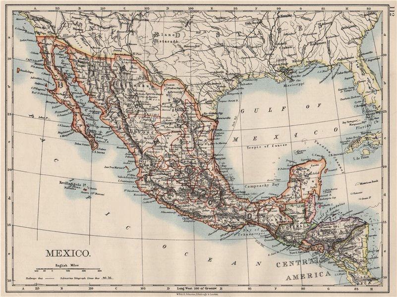 Associate Product MEXICO. Greater Central America Republic-1895 Amapala treaty. JOHNSTON 1900