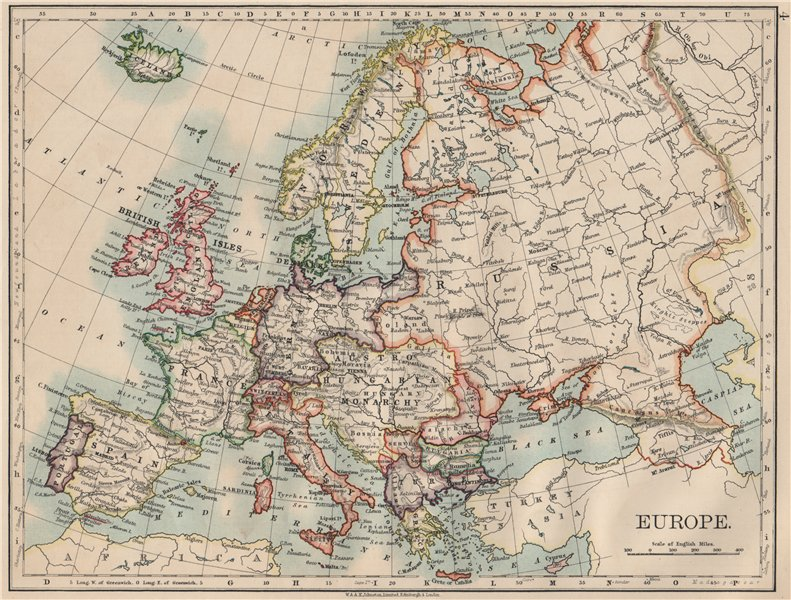 Associate Product EUROPE POLITICAL. Austria-Hungary. United Sweden & Norway. JOHNSTON 1903 map