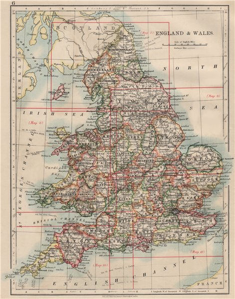 Associate Product ENGLAND AND WALES. Counties. Westmorland. Telegraph cables.  JOHNSTON 1903 map