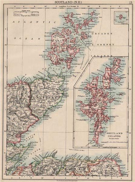 Associate Product MORAY FIRTH. Caithness Elgin Shetlands Orkneys. Scotland. JOHNSTON 1903 map