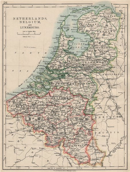 title of map netherlands belgium and luxemburg
