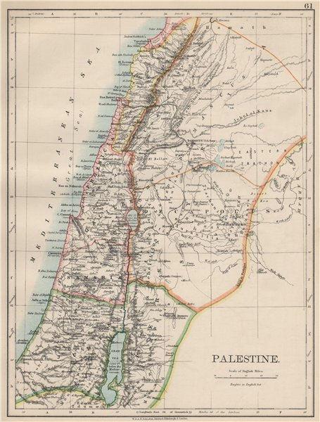 Associate Product PALESTINE. Galilee Samaria Judea Perea Phoenicia Decapolis. JOHNSTON 1903 map