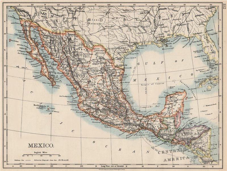Associate Product MEXICO. Greater Central America Republic-1895 Amapala treaty. JOHNSTON 1903