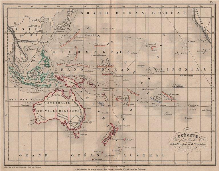 Associate Product 'Océanie' by Meissas & Michelot. Oceania Australasia Pacific Ocean 1861 map