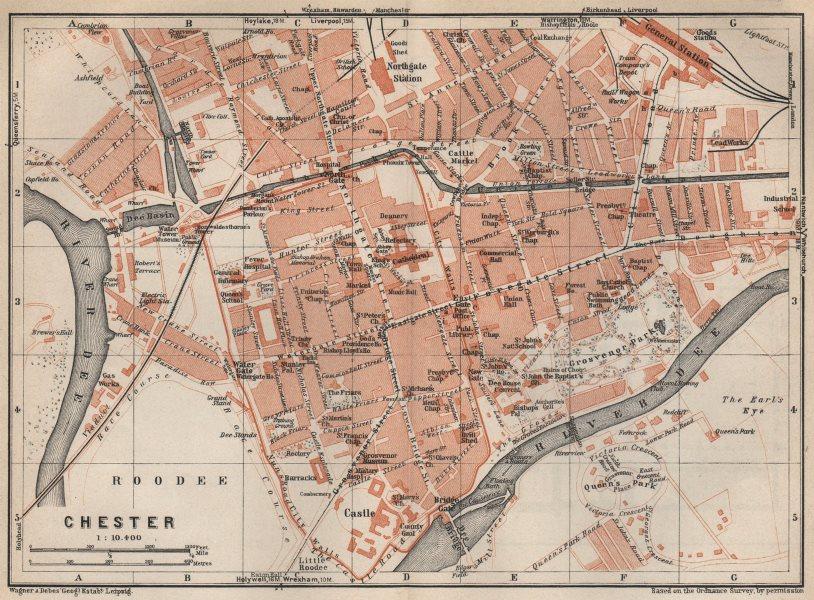 Associate Product CHESTER town city plan. Grosvenor Precinct Handbridge. Cheshire 1927 old map