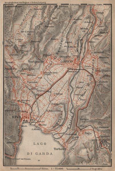Associate Product ARCO & RIVA DEL GARDA environs. Trento, Italy Italia. Bolognano mappa 1903