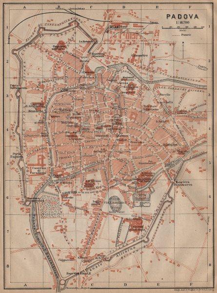 Associate Product PADOVA PADUA antique town city plan piano urbanistico. Italy mappa 1903